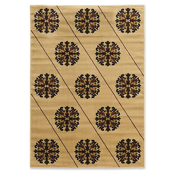 Alternate image 1 for Linon Home Armor Elegance Loomed 5' x 7'3 Area Rug in Brown