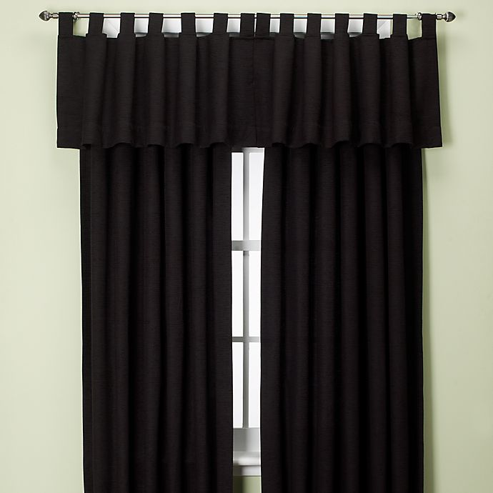 Alternate image 1 for Union Square 144-Inch Tab Top Window Curtain Panel in Black