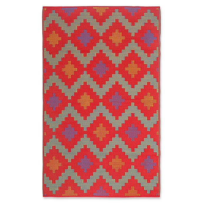 Alternate image 1 for FH Home Jakarta Recycled Patio Mat in Red