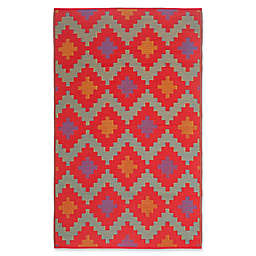 Fh Home Jakarta Recycled Patio Mat In Red