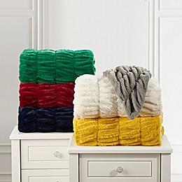 Leone Faux Fur Throw Blanket