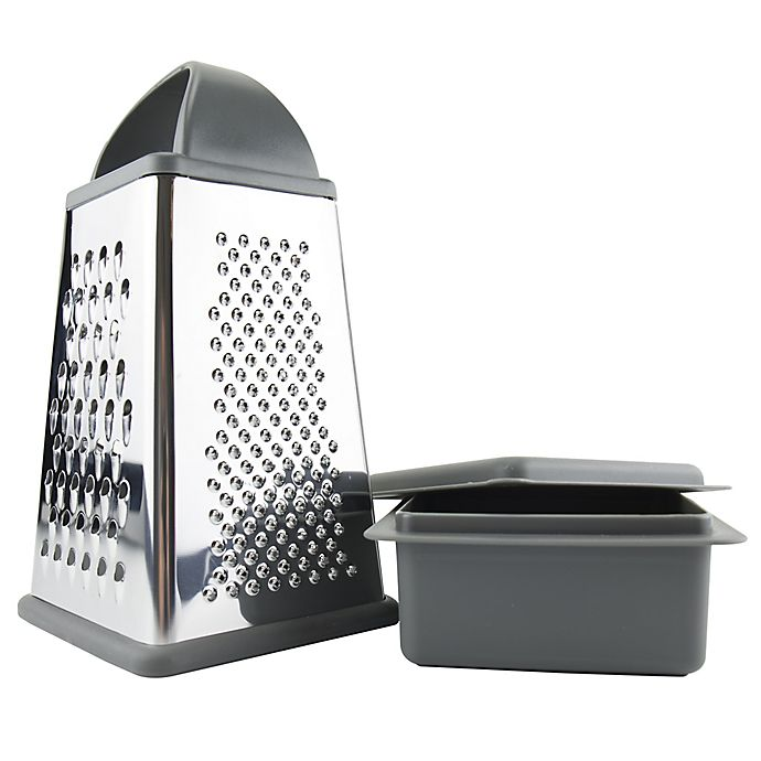 Alternate image 1 for Elements by Tovolo® Box Grater with Storage Container