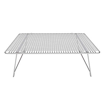 Hamilton Housewares 12-Inch x 17-Inch Stainless Steel Stackable Cooling Rack