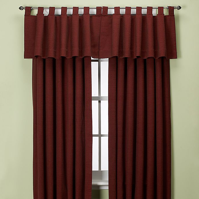 Alternate image 1 for Union Square 132-Inch Tab Top Window Curtain Panel in Red