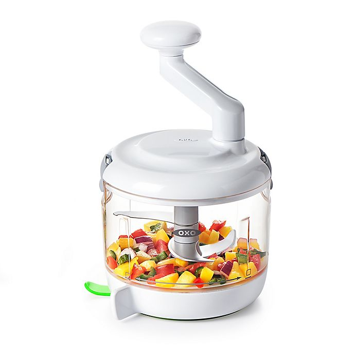 Alternate image 1 for OXO Good Grips® One Stop Chop Manual Food Processor in White/Green