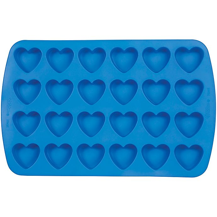 Alternate image 1 for Wilton® 24-Cavity Mini Heart Silicone Mold
