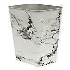 7-Gallon Plastic Rectangular Trash Can In Black Marble