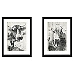 StyleCraft Faded Cows Wall Art Prints (Set of 2)