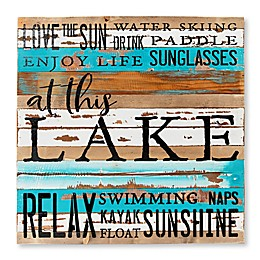 Sweet Bird & Co Lake Collage 24-Inch Square Wood Sign