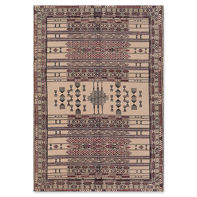 Alternate image 1 for Surya Shadi Global Hand-Woven Area Rug in Beige/Purple