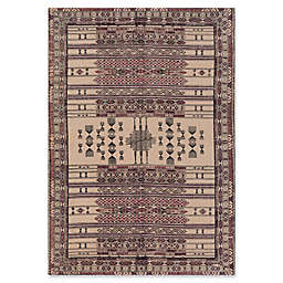 Surya Shadi Global Hand-Woven 5' x 7'6 Area Rug in Beige/Purple