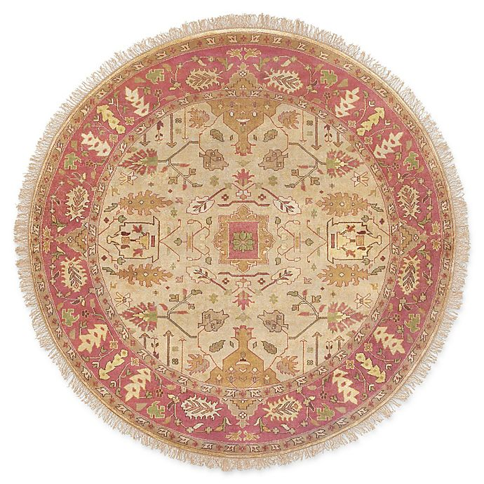 Alternate image 1 for Surya Adana Classic 8' Round Area Rug in Camel/Red