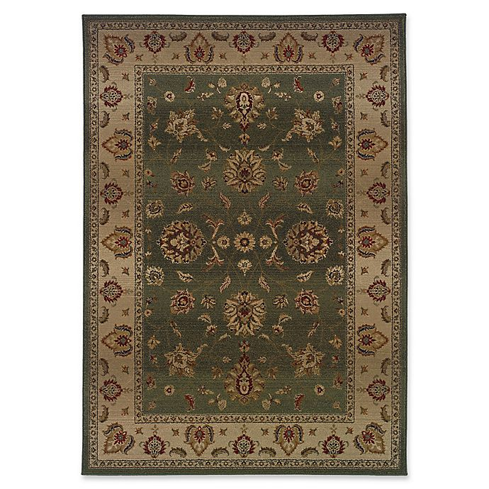 Alternate image 1 for Oriental Weavers Genesis Transitional Floral 7'10 x 11' Area Rug in Green