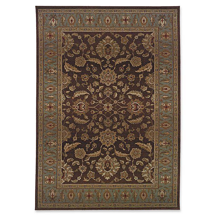 Alternate image 1 for Oriental Weavers Genesis Floral and Border Rug in Brown/Beige