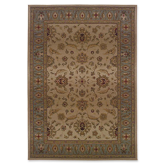 Alternate image 1 for Oriental Weavers Genesis Transitional Floral 9'9 x 12'2 Area Rug in Beige/Blue