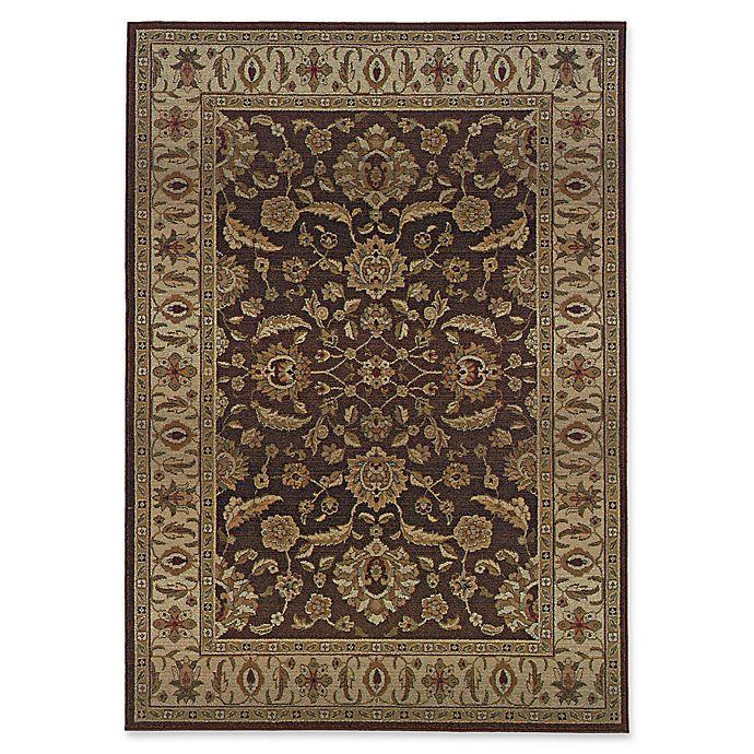 Alternate image 1 for Oriental Weavers Genesis Transitional Floral 9'9 x 12'2 Area Rug in Brown/Beige