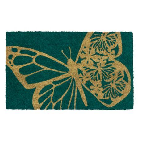 Entryways Butterfly 17 Quot X 28 Quot Coir Door Mat Bed Bath