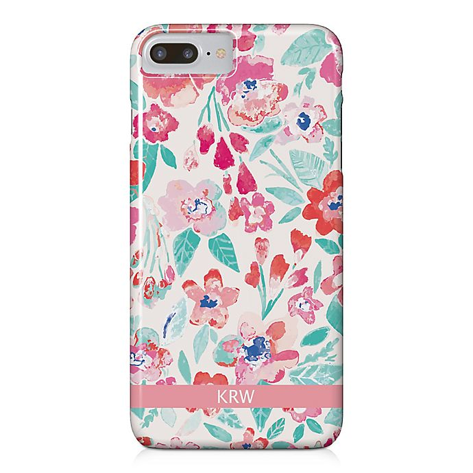 Alternate image 1 for Designs Direct Coral Patchy Flowers iPhone® 8 Plus Case
