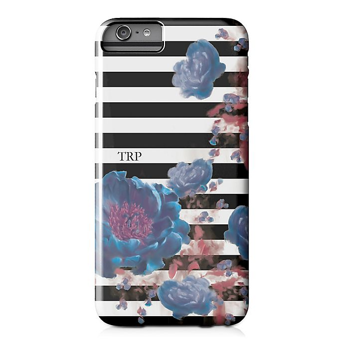 Alternate image 1 for Designs Direct Floral Stripe iPhone® 6 Plus Case