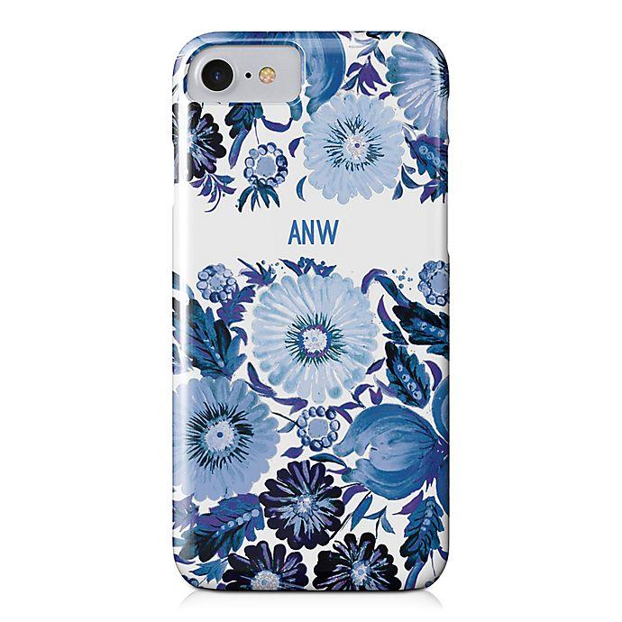 Alternate image 1 for Designs Direct Blue Florals iPhone® 8 Case
