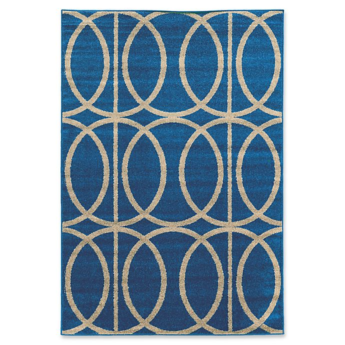 Alternate image 1 for Linon Home Décor Claremont 2' x 3' Links Accent Rug in Blue/Grey