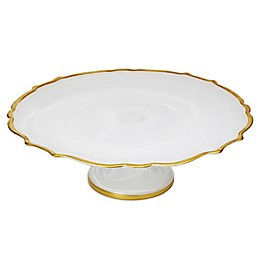 Classic Touch Trophy Alabaster Footed Cake Stand