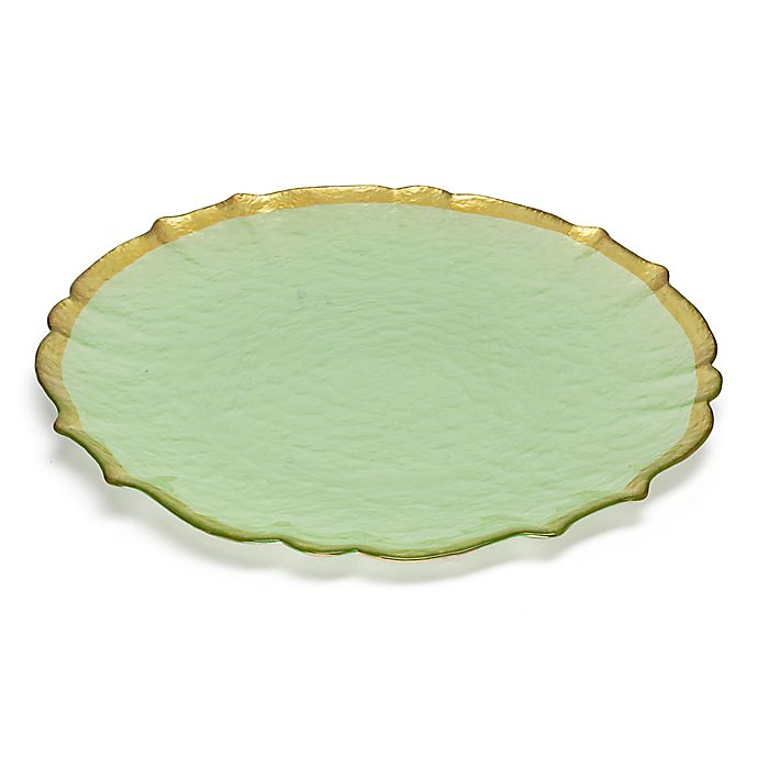 Alternate image 1 for Classic Touch Trophy Alabaster Green Accent Plates (Set of 4)