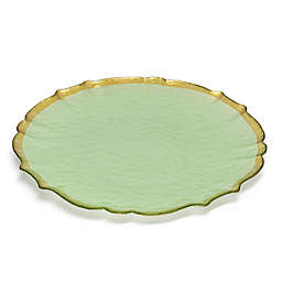 Classic Touch Trophy Alabaster Green Charger Plates (Set of 4)