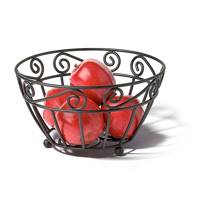 Spectrum Scroll Metal Fruit Bowl In