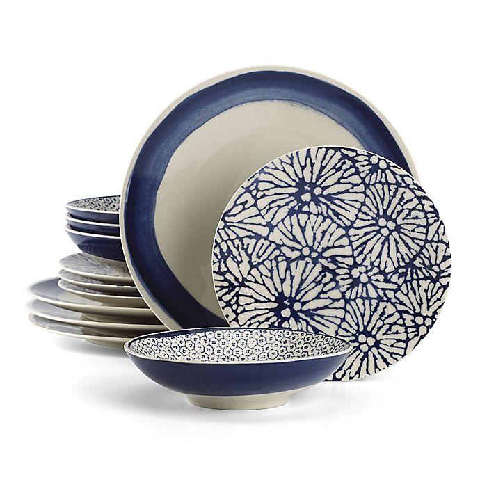 Alternate image 1 for Lenox® Market Place™ Indigo 12-Piece Dinnerware Set