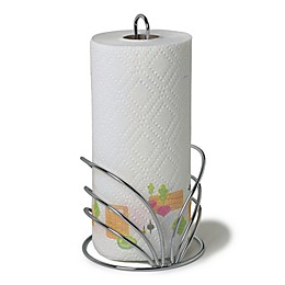 Spectrum Flower Metal Paper Towel Holder in Chrome