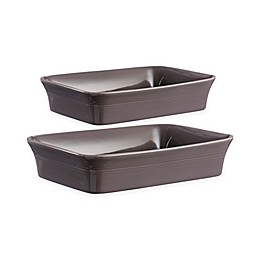 Mason Cash® Classic Kitchen 2-Piece Rectangular Baking Dish Set in Dark Grey