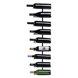 Oenophilia 9-Bottle Wine Ledge Wall Rack in Black