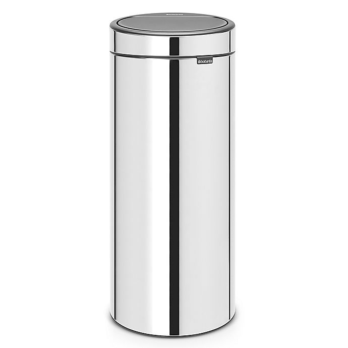 Alternate image 1 for Brabantia® 8-Gallon Touch Trash Can in Brilliant Steel