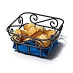Spectrum™ Scroll Metal Mini Bread Basket in Black