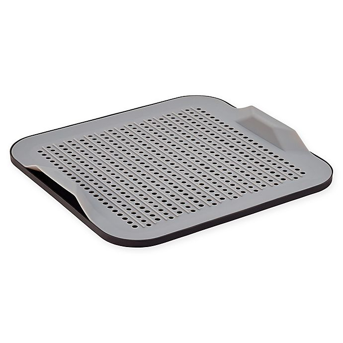 Alternate image 1 for Better Housewares 2-Piece Silicone Drying Mat Set in Grey/Black