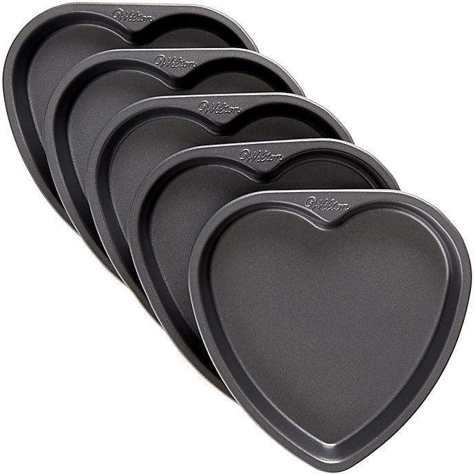 Alternate image 1 for Wilton® 5-Piece Heart Layer Cake Pan Set