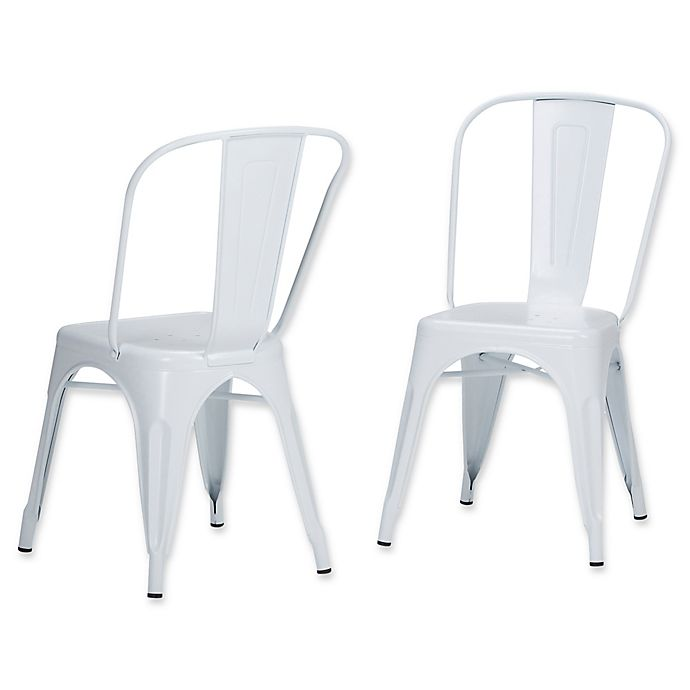 Alternate image 1 for Simpli Home™ Dining Chairs in White (Set of 2)