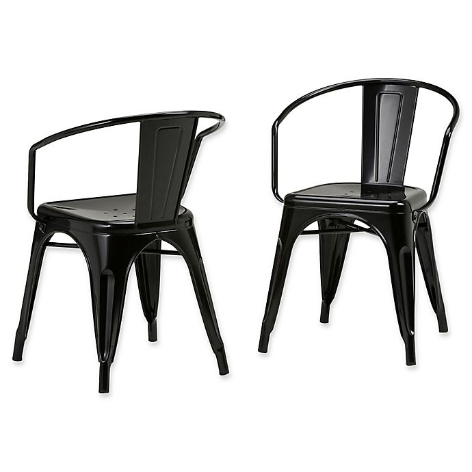 Alternate image 1 for Simpli Home™ Dining Chairs in Black (Set of 2)
