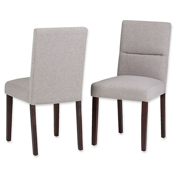 Alternate image 1 for Simpli Home™ Faux Leather Upholstered Dining Chairs (Set of 2)