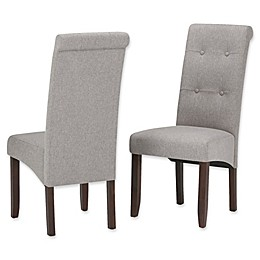 Simpli Home™ Faux Leather Upholstered Dining Chairs (Set of 2)