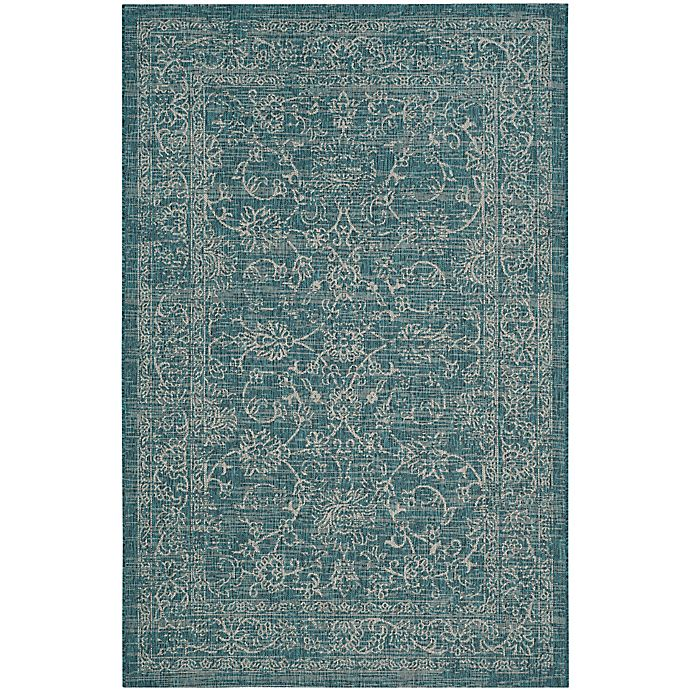 Alternate image 1 for Miami Vintage Indoor/Outdoor Rug in Turquoise