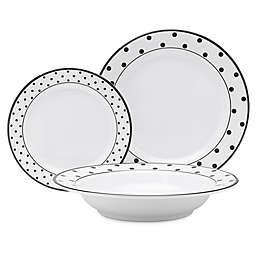 Q Squared Heritage Moonbeam Dots 12-Piece Set in Black/White