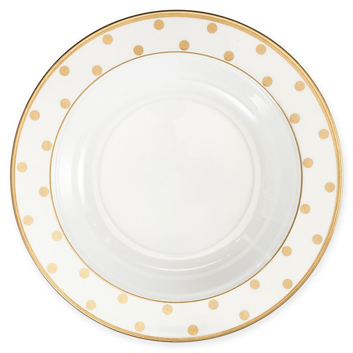 Alternate image 1 for Q Squared Moonbeam Dots 10.5-Inch Round Pasta Bowl in Gold (Set of 4)