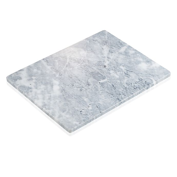 Alternate image 1 for Artland 11-Inch x 15-Inch Rectangular Marble Platter in White/Grey