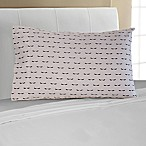 Mix and Match Eyelash 330-Thread-Count Standard Pillowcase in Black
