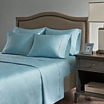 Madison Park Hotel 800-Thread-Count Cotton Blend King Sheet Set in Aqua