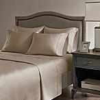 Madison Park Hotel 800-Thread-Count Cotton Blend Queen Sheet Set in Khaki