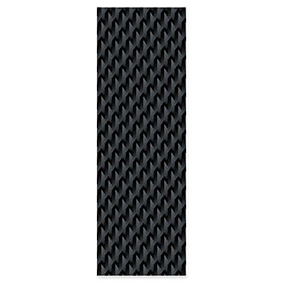 Empower® Waffle Deluxe Fitness Mat with Carry Strap in Black