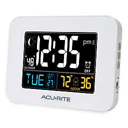 AcuRite® Alarm Clock with Intelli-Time in White